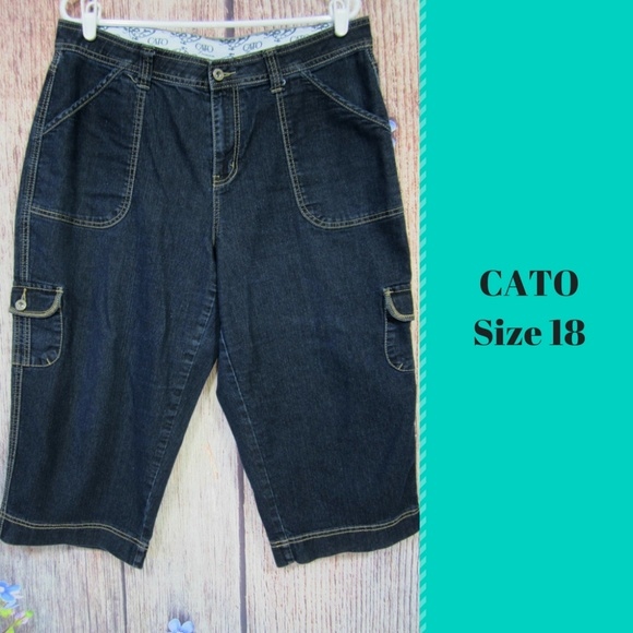 fd77328e8b1ed Cato Denim - Cato Capri Jeans Short Cropped Cargo Pockets 18